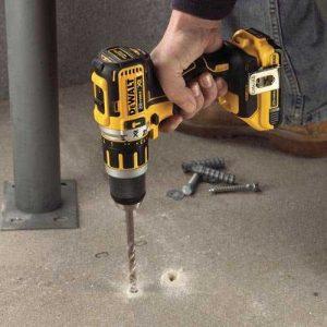 Concrete cordless drill