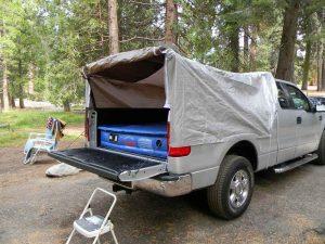 DIY pickup truck tent