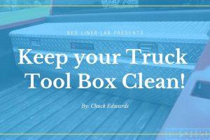 Truck Tool Box Cleaner