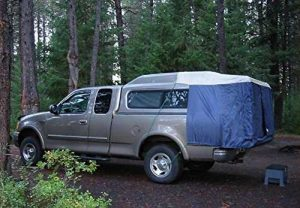 Truck tent for cab topper