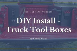 how to install a truck tool box with bed liner