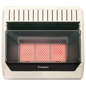 procom vent free natural gas heater