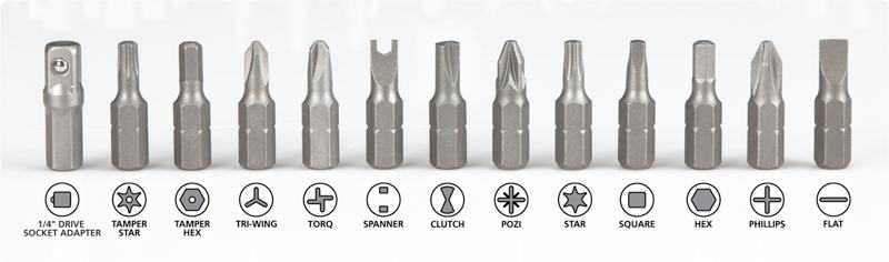 types of screw heads