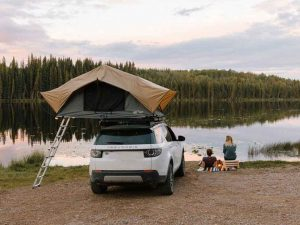 camping with a roof top tent